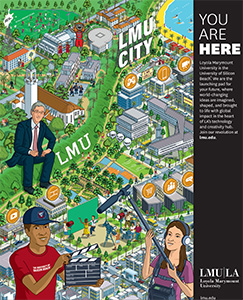LMU City - An illustrated view of Playa Vista and LMU